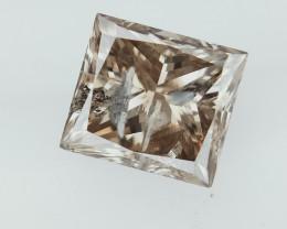 0.73 cts Princess Brilliant Cut Diamonds;salt pepper diamond