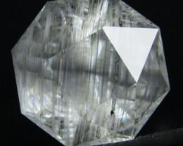 23.23Cts Genuine Rarest Unheated rutile White Topaz  Octagonal CutSee VEDIO