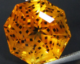 10.48Cts Wow Amazing Natural Citrine Octagonal  precision Cut  Collector Ge
