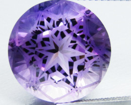 12.54Cts Genuine Excellent Natural Amethyst Round precision Cut Loose Gem