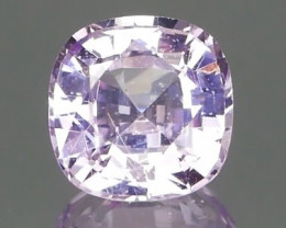 Certified No Heat Square Cushion Pink Sapphire 1.17Ct