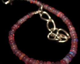 13 Crts Natural Welo Smoked Opal Beads Bracelet 881