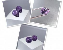 8.70 cts Natural Purple Amethyst Pairs   SKU : 101