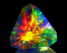 ContraLuz 6.88Ct Trillion Cut Mexican Very Rare Species Opal C0504