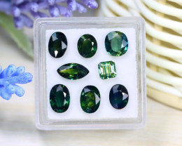 Sapphire 6.27Ct Natural Australian Teal Sapphire Lot Box C0512
