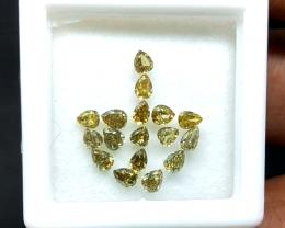 1.35 cts , Pear Cut , Diamond Parcels , Wholesale Prices