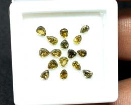 1.26 cts  , Pear Brilliant Cut , Diamond Parcels , Wholesale Prices