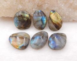 D1444 - 50cts 6pcs natural labradorite cabochon,labradorite stones,loose ge