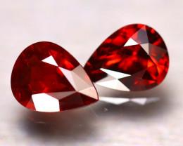 Almandine 3.43Ct 2Pcs Natural Vivid Blood Red Almandine Garnet E0405/B3