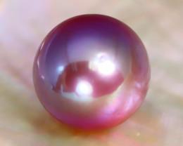 12.2mm 12.53Ct Natural Tahitian Purple Black Pearl C0532