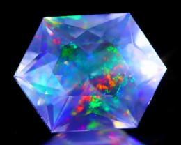 ContraLuz 2.31Ct Hexagon Cut Mexican Very Rare Species Opal C0536