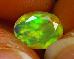 Welo Opal 0.88Ct Natural Ethiopian Play of Color Opal D0524/A44