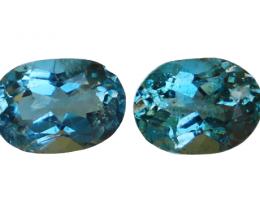 1.55 Cts Natural & Unheated~ Blue Aquamarine Gemstone Pair