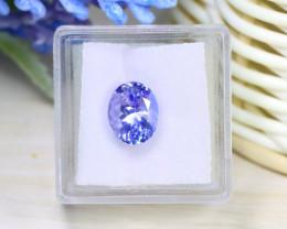 Tanzanite 3.62Ct VVS Natural UnheatedLight Blue Tanzanite Box A0506