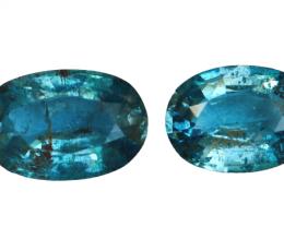 4.60 Cts Natural & Unheated~ Blue Aquamarine Gemstone Pair