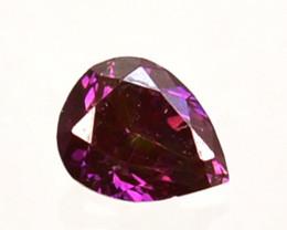 0.06 Cts Natural Flashing Purple Pink Diamond Round Cut  Africa