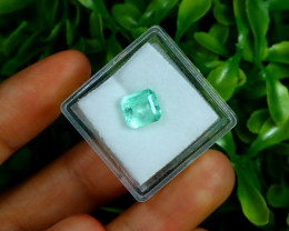 Emerald 1.80Ct Colombian Muzo Emerald Neon Mint Green Beryl A0522