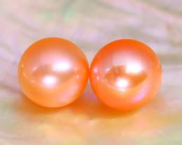 7.7mm 6.34Ct Natural Australian South Sea Orange Color Pearl A0523