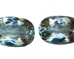 4.70 Cts Natural & Unheated~ Blue Aquamarine Gemstone Pair