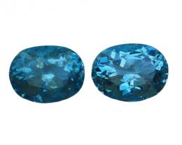 1.60 Cts Natural & Unheated~ Blue Aquamarine Gemstone Pair