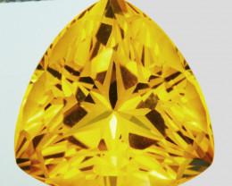 ~CUSTOM CUT~ 9.90 Cts Natural Golden Orange Citrine Fancy Trillion Brazil