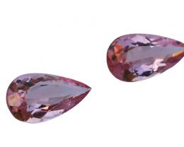 1.60 Cts Natural & Unheated~ Pink Morganite Gemstone Pair