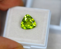 3.30ct Natural Green Peridot Trillion Cut Lot P200