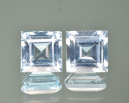 Natural Blue Topaz 6.55  Cts Matched Pair,  Quality Gemstone