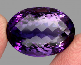 45.63 ct Natural Earth Mined Top Quality Unheated Purple Amethyst,Uruguay