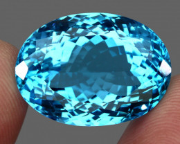Big 60.00 ct. Natural Earth Mined Top Quality Blue Topaz Brazil
