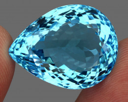 44.43 ct. 100% Natural Earth Mined Top Quality Blue Topaz Brazil