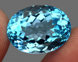 19.96 ct. 100% Natural Earth Mined Top Quality Blue Topaz Brazil