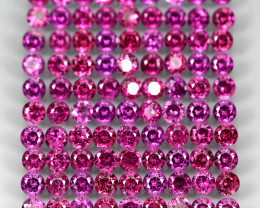 9.64 Ct 90pcs. 2.7mm Round 100% Natural Neon Purple Rhodolite Garnet Malawi