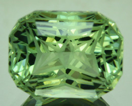 ~CUSTOM CUT~ 16.95 Cts Natural Prasiolite / Amethyst Fancy Cushion Brazil