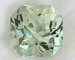 Pretty Mint Green Custom Cut 3.34ct Tourmaline - Congo 2419