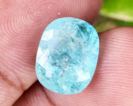 7.33 CT PARAIBA BLUE GIL-CERTIFIED 100% COPPER BEARING NATURAL UNHEATED