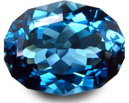 4.48Cts Sparkling Natural London Blue Topaz Oval Custom Cut Loose Gem VIDEO