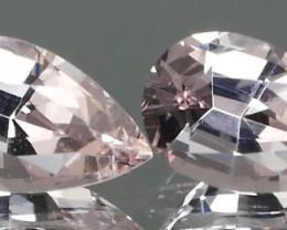 *NR* Pink Color Morganite Pair 0.79Ct