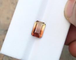 2.15 Ct Natural Bi Color Transparent Tourmaline Ring Size Gemstone