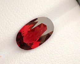 Attractive Color 3.00  ct lovely Red Garnet Ring Size