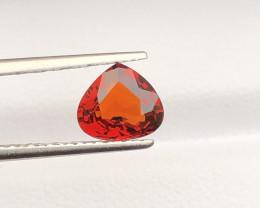 Heart shape 1.40 ct Orange Garnet Ring Size