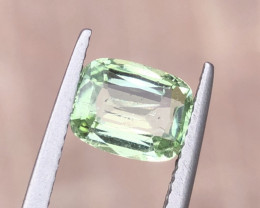 1.65 Carats Natural Green Tourmaline Cut Stone from Afghanistan