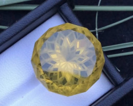 Spider Round Shape 52.20 ct  Dark Citrine Ring Size