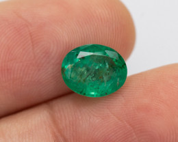 2.08ct Lab Certified Zambian Emerald