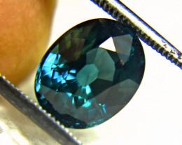 CERTIFIED - 5.02 Ct. VS1 Unheated Greenish Blue Sapphire - Gorgeous