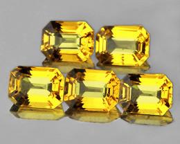 4x3 mm Octagon 5 pcs 1.64ct Ceylon Yellow Sapphire [VVS]