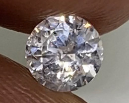 (2) Certified Nat $1016 Brilliant  0.56cts SI2 Nat White Round Loose Diamon
