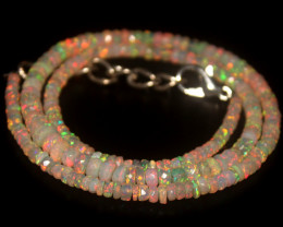 38.40 Crts Natural Welo Faceted Opal Beads Necklace 289