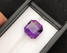 Top Grade 12.45 ct Fancy Cut Amethyst Ring Size