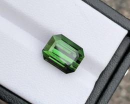 Stunning Green 5.735 ct Congo Tourmaline Faceted Gem